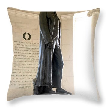 Jefferson Memorial In Washington Dc Throw Pillow by Olivier Le Queinec