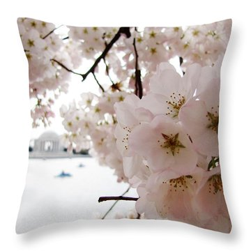 Throw Pillow featuring the photograph Jefferson Memorial by Jennifer Wheatley Wolf