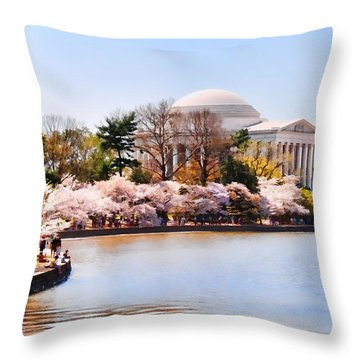 Jefferson Memorial Washington Dc Throw Pillow