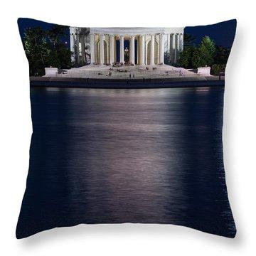 Jefferson Memorial Washington D C Throw Pillow by Steve Gadomski