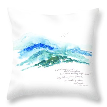 Jehovah Helps Us Throw Pillow by B L Qualls