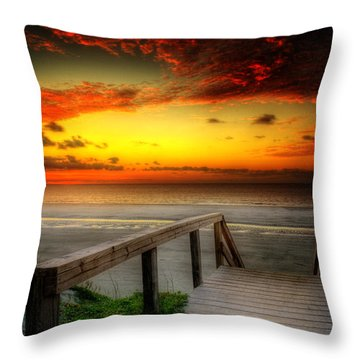 Throw Pillow featuring the photograph Jekyll Island Morning by Greg and Chrystal Mimbs