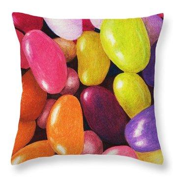 Jelly Beans Throw Pillow by Anastasiya Malakhova