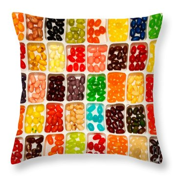 Jelly Beans Throw Pillow by Anne Kitzman