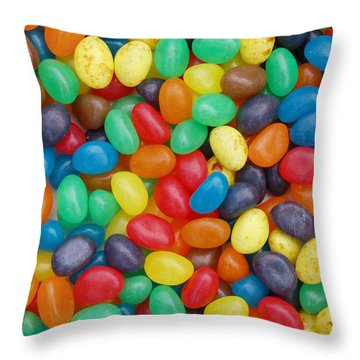 Throw Pillow featuring the digital art Jelly Beans by Ron Harpham
