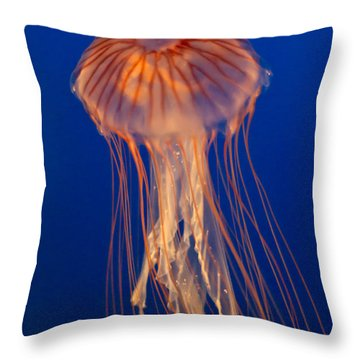 Throw Pillow featuring the photograph Jelly Fish by Eti Reid