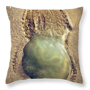 Jellyfish Throw Pillow by Carlos Caetano
