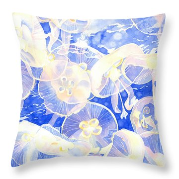 Jellyfish Jubilee Throw Pillow