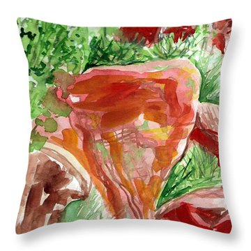Throw Pillow featuring the painting Jemez Red Rocks by Ashley Kujan