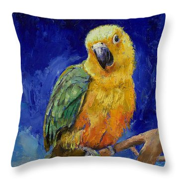 Jenday Conure Throw Pillow