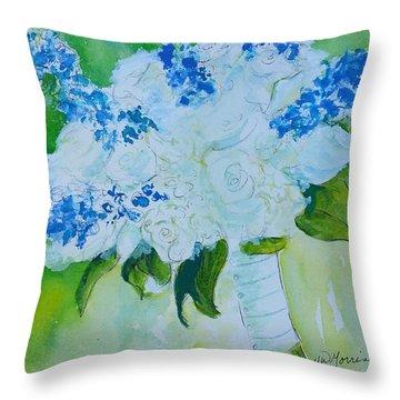Jennifer 's Wedding Bouquet.  1.2.2015 Throw Pillow