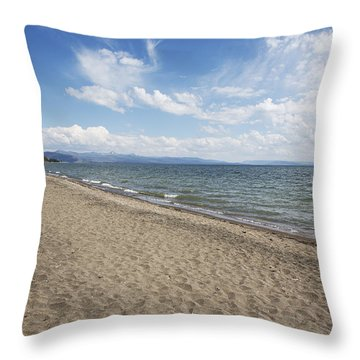 Yellowstone Lake Throw Pillow by Belinda Greb