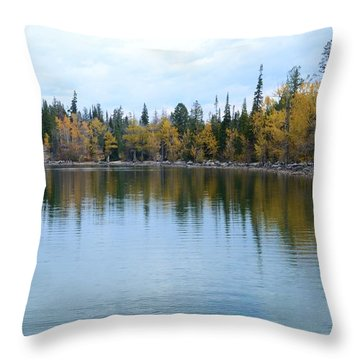 Jenny Lake Throw Pillow by Kathleen Struckle