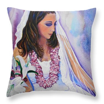 Jenny Throw Pillow by Margaret Bobb