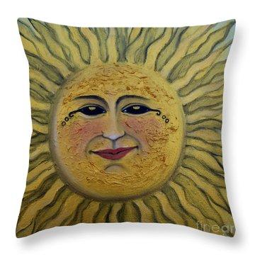 Jen's Sunshine Throw Pillow