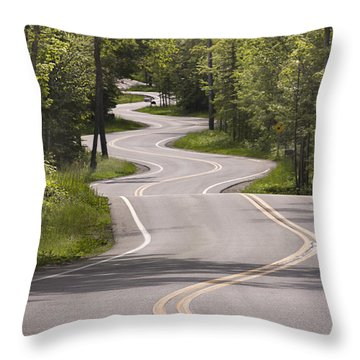Jensen's Road In May Throw Pillow