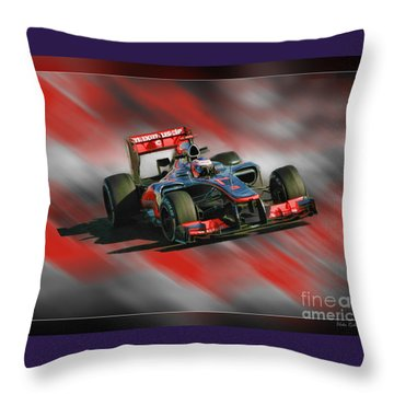 Jenson Button  Throw Pillow