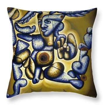 Jere Hellios Throw Pillow by Feile Case