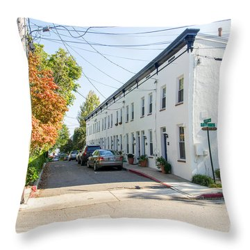 Throw Pillow featuring the photograph Jeremys Way by Charles Kraus