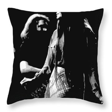 Jerry And Donna Godchaux 1978 A Throw Pillow