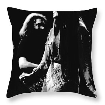 Jerry And Donna Godchaux 1978 Throw Pillow