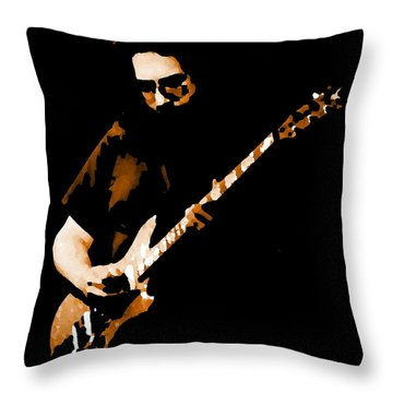Jerry And His Guitar Throw Pillow