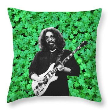 Throw Pillow featuring the photograph Jerry Clover 1 by Ben Upham