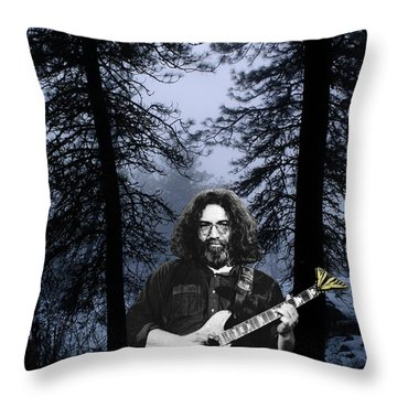 Throw Pillow featuring the photograph Jerry Cold Rain And Snow by Ben Upham