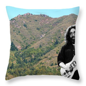 Throw Pillow featuring the photograph Jerry Garcia And Mount Tamalpais by Ben Upham III