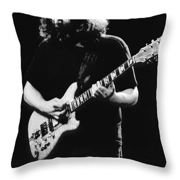 Jerry Garcia In Cheney 1978 Throw Pillow