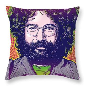 Jerry Garcia Pop Art Throw Pillow