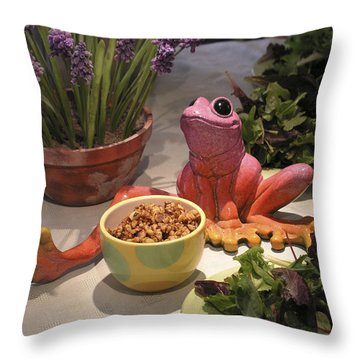 Throw Pillow featuring the photograph Jerry Miuh by Dan Redmon