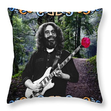 Jerry Road Rose 1 Throw Pillow by Ben Upham