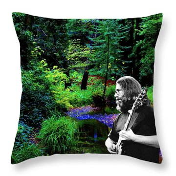 Throw Pillow featuring the photograph Jerry's Sunshine Daydream by Ben Upham