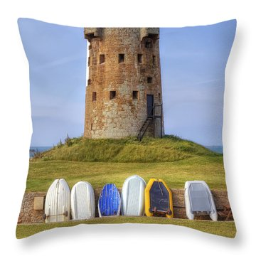 Jersey - Le Hocq Throw Pillow by Joana Kruse