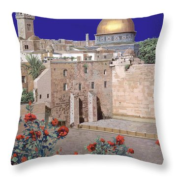 Jerusalem Throw Pillow by Guido Borelli