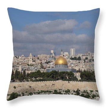 Jerusalem Old City Throw Pillow