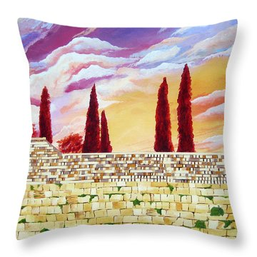 Jerusalem Prayers Throw Pillow