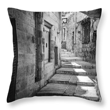 Jerusalem Street Throw Pillow by Alexey Stiop