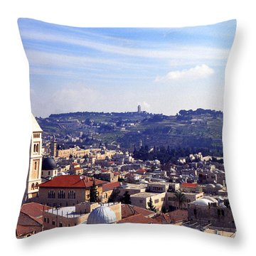 Jerusalem Throw Pillow by Thomas R Fletcher