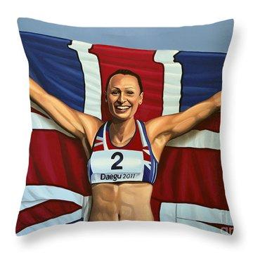 Jessica Ennis Throw Pillow