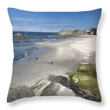 Jessie Honeyman Memorial State Park Throw Pillow by Peter French