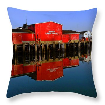 Jessies Ilwaco Fish Company Throw Pillow