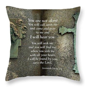 Jesus And Cross - Inspirational - Bible Scripture Throw Pillow