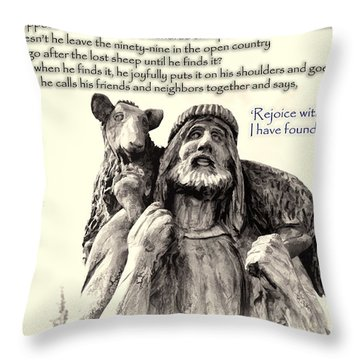 Jesus And Lamb Throw Pillow