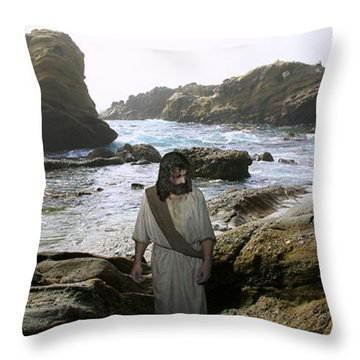 Jesus Christ- In The Company Of Angels Throw Pillow
