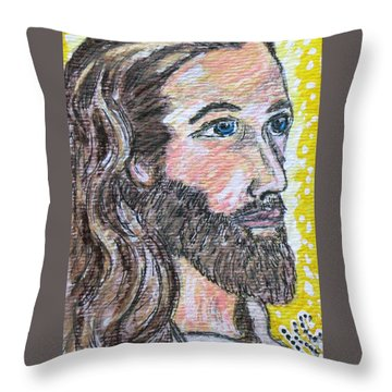 Jesus Christ Throw Pillow by Kathy Marrs Chandler