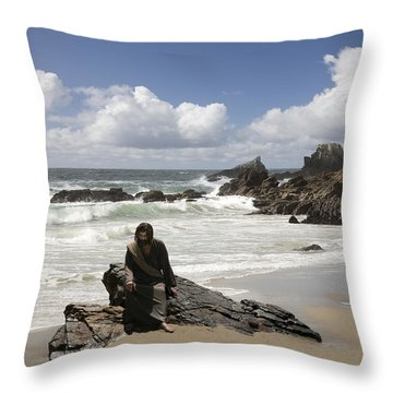 Jesus Christ- Make Time For Me I Miss You Throw Pillow
