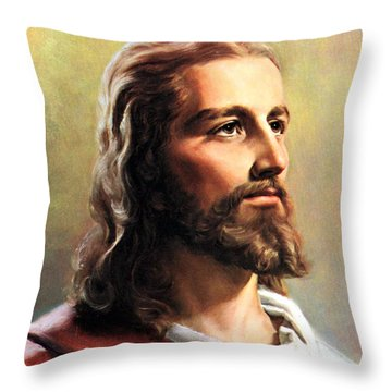 Jesus Christ Throw Pillow by Munir Alawi