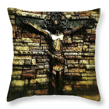 Jesus Coming Into View Throw Pillow